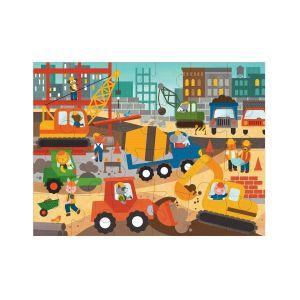 Petit Collage Construction Floor Puzzle