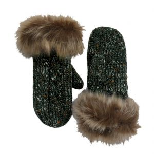 Patrick Francis Bottle Speckled Wool Mittens