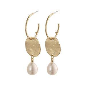 Pilgrim Affection Gold Drop Earrings