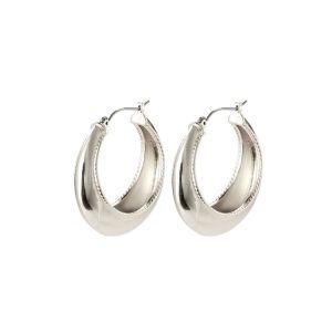 Pilgrim Air Silver Hoop Earrings