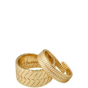 Pilgrim Kelly Snake Chain Rings, Gold-Plated