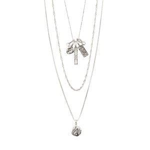 Pilgrim Legacy Layered Pendant Necklace Silver-Plated
