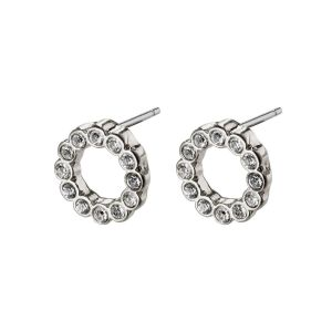 Pilgrim Malin Silver Crystal Earrings