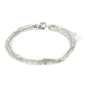 Pilgrim Katherine Silver White Bracelet