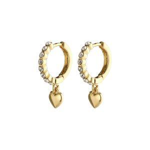 Pilgrim Sophia Gold Crystal Earrings