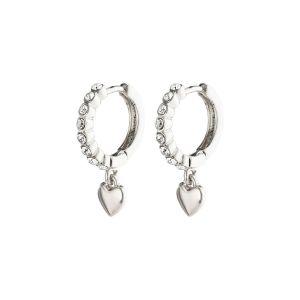 Pilgrim Sophia Silver Crystal Earrings