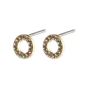 Pilgrim Tessa Gold Crystal Earrings
