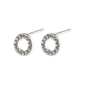 Pilgrim Tessa Silver Crystal Earrings