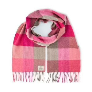 Avoca Pink Fields Merino Wool Scarf