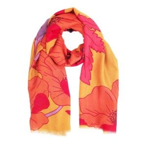 Powder Poppy Bright Print Scarf