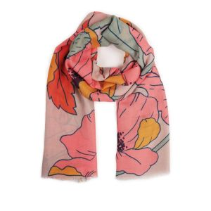Powder Summer Poppy Pastel Print Scarf