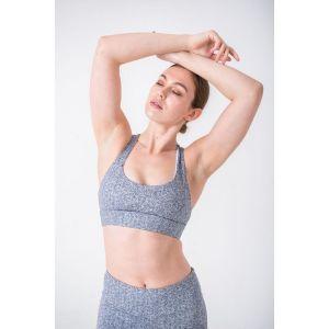 Powercut SÄNÄ High Support Heather Grey Sports Bra arm up model