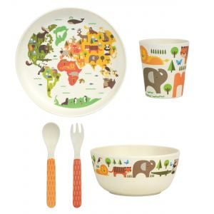 Petit Collage Our World Baby Feeding Set