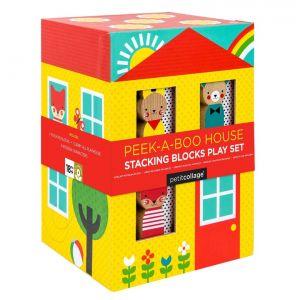 Petit Collage Peekaboo Stacking Blocks