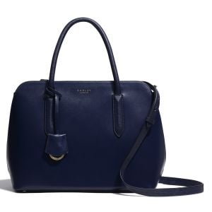 Radley Liverpool Street Ink Blue Leather Grab Bag