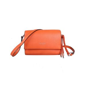 Red Cuckoo Orange Flapover Crossbody