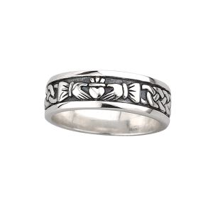 Solvar Sterling Silver Ring with Celtic Knot & Claddagh Design