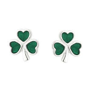 Solvar Sterling Silver Enamel Stud Earrings