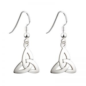 Solvar Trinity Knot Drop Earrings