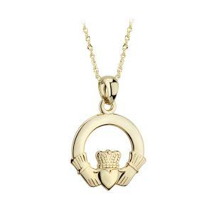 Solvar 14K Gold Claddagh Pendant