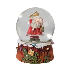 Small Santa with Fairy Lights Snow Globe