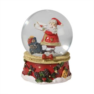 Santa With Letter Snow Globe
