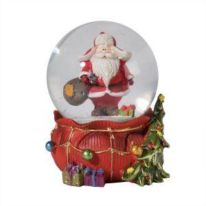 Santa with Sack Snow Globe