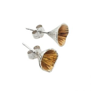 Martina Hamilton Shell Cone Small Stud Earrings