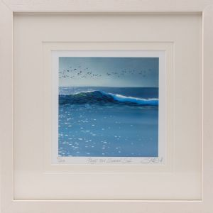 Sharon McDaid Flight Over Summer Surf 18 x 18 Frame