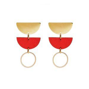 Shock of Grey Jenny Red Earrings