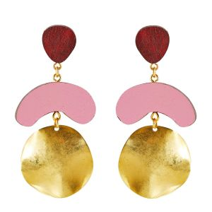 Shock of Grey Megadrop Wine & Dirty Pink Earrings