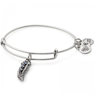 Alex and Ani Feather II Silver Bangle