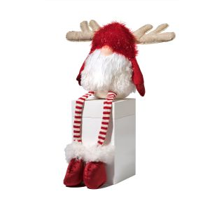 Sitting Gnome With Antlers