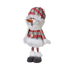 Snowman Dressed in Red