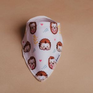 Stork & Co Dribble Baby Bib Hedgehog
