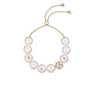Ted Baker Gold/White Daisy Ball Pearl Bracelet