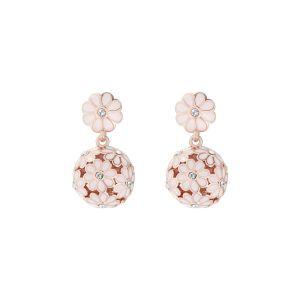Ted Baker Rose Gold/Baby Pink Daisy Ball Earrings