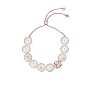Ted Baker Rose Gold/Baby Pink Daisy Ball Pearl Bracelet