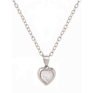 Ted Baker Silver Crystal Heart Pendant