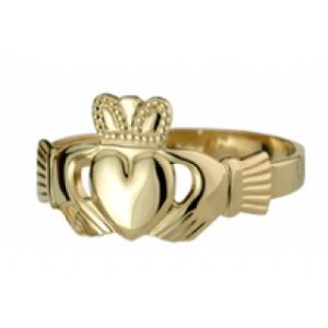 Solvar 9ct Puffed Heart Maids Ring Extra Heavy