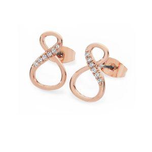 Tipperary Crystal Infinity Shape Stud Earrings