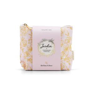 Tipperary Crystal Jardin Red Roses & Lemon Toiletry Bag Set