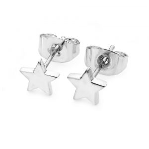 Tipperary Crystal Mini Star Silver Earrings