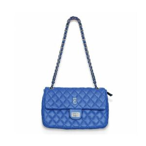 Tipperary Crystal Quilted Palermo Blue Shoulder Bag