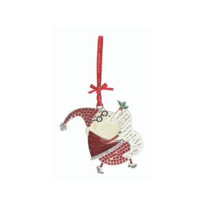 Tipperary Crystal Santa With List Decoration