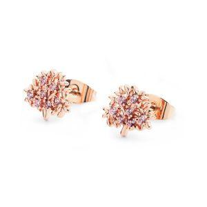 Tipperary Crystal Tree Of Life Pink Crystal Earrings