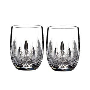 Waterford Connoisseur Lismore Tumbler Round 7oz Pair