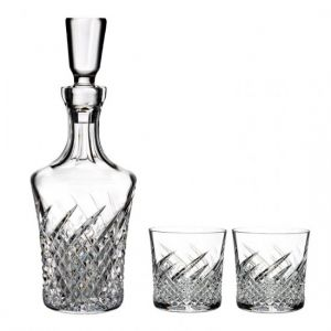Waterford Crystal Wild Atlantic Way Decanter &  Rocks Glasses Pair