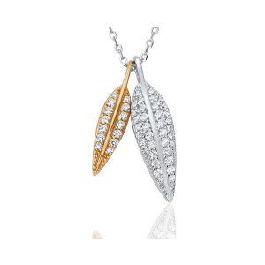 Waterford Jewellery Crystal Leaf Pendant