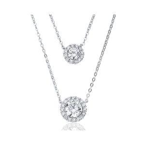 Waterford Jewellery Double Drop Pendant